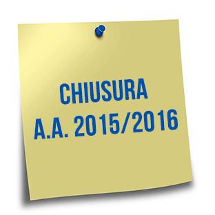 Chiusura a.a. 2015/2016