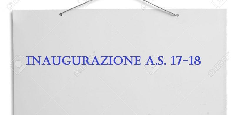 INAUGURAZIONE A. S. 17-18