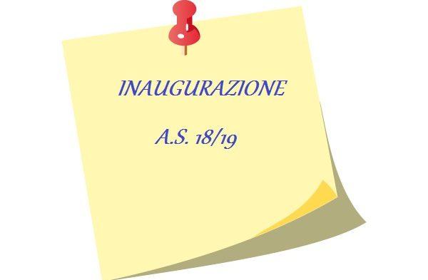 INAUGURAZIONE A.S. 18-19